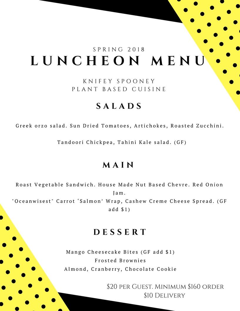 Canva spring lunch menu