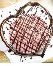 Beet valentine's cheesecake