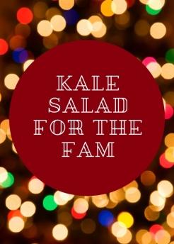 Family size kale salad