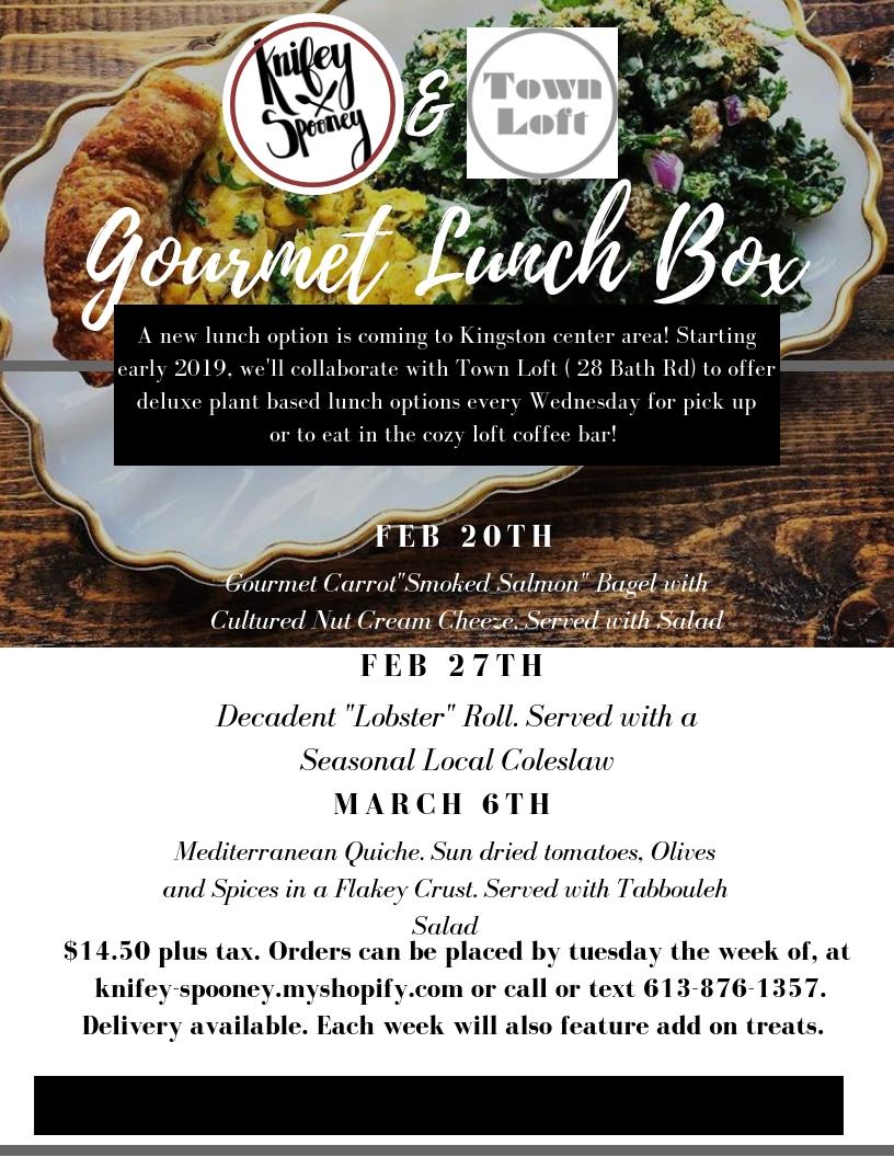 Gourmet lunch Box menu 2